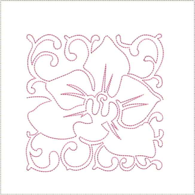 Continuous Line Orchid